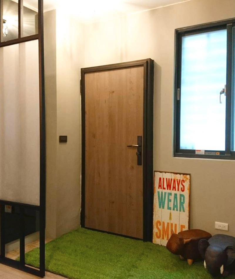 木纹钢板门(竹北)